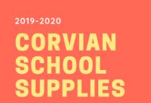 2019-2020 Corvian School Supplies