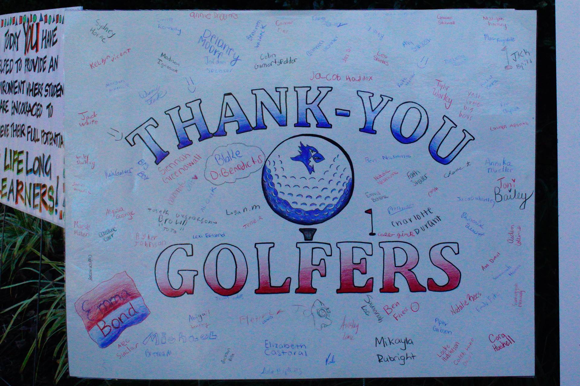 Thank You Golfers