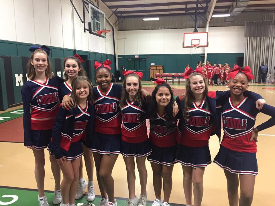7th and 8th Grade Cheerleaders