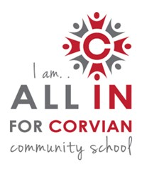 All In for Corvian fundraising logo