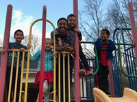 Brandon with kids